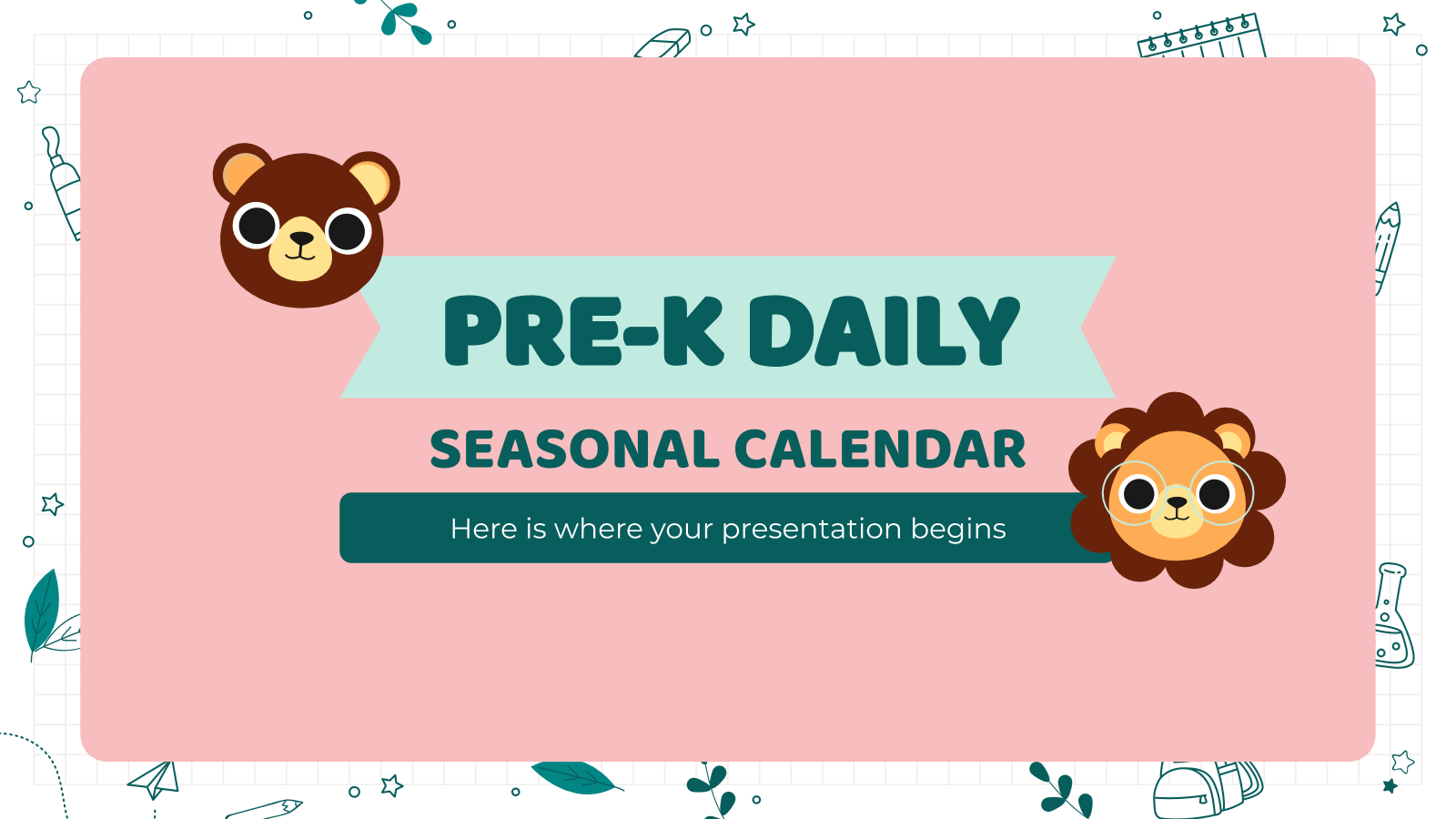 Pre-K Daily Seasonal Calendar presentation template