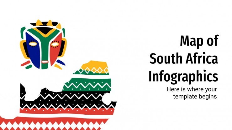 Map of South Africa Infographics presentation template