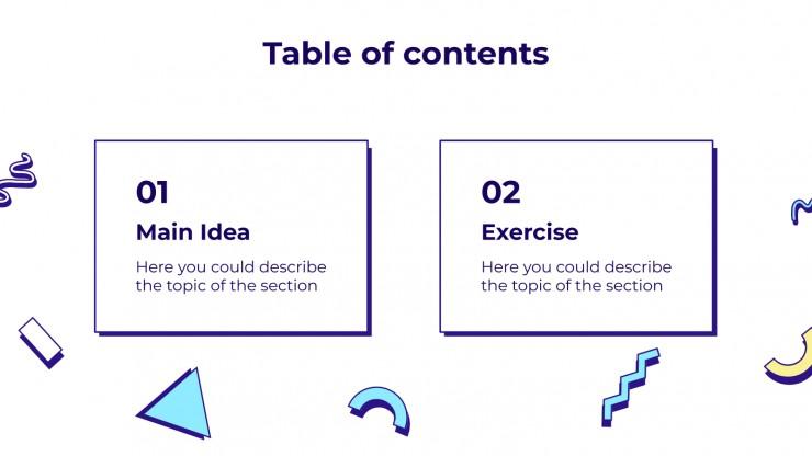 Task Cards for Main Ideas presentation template
