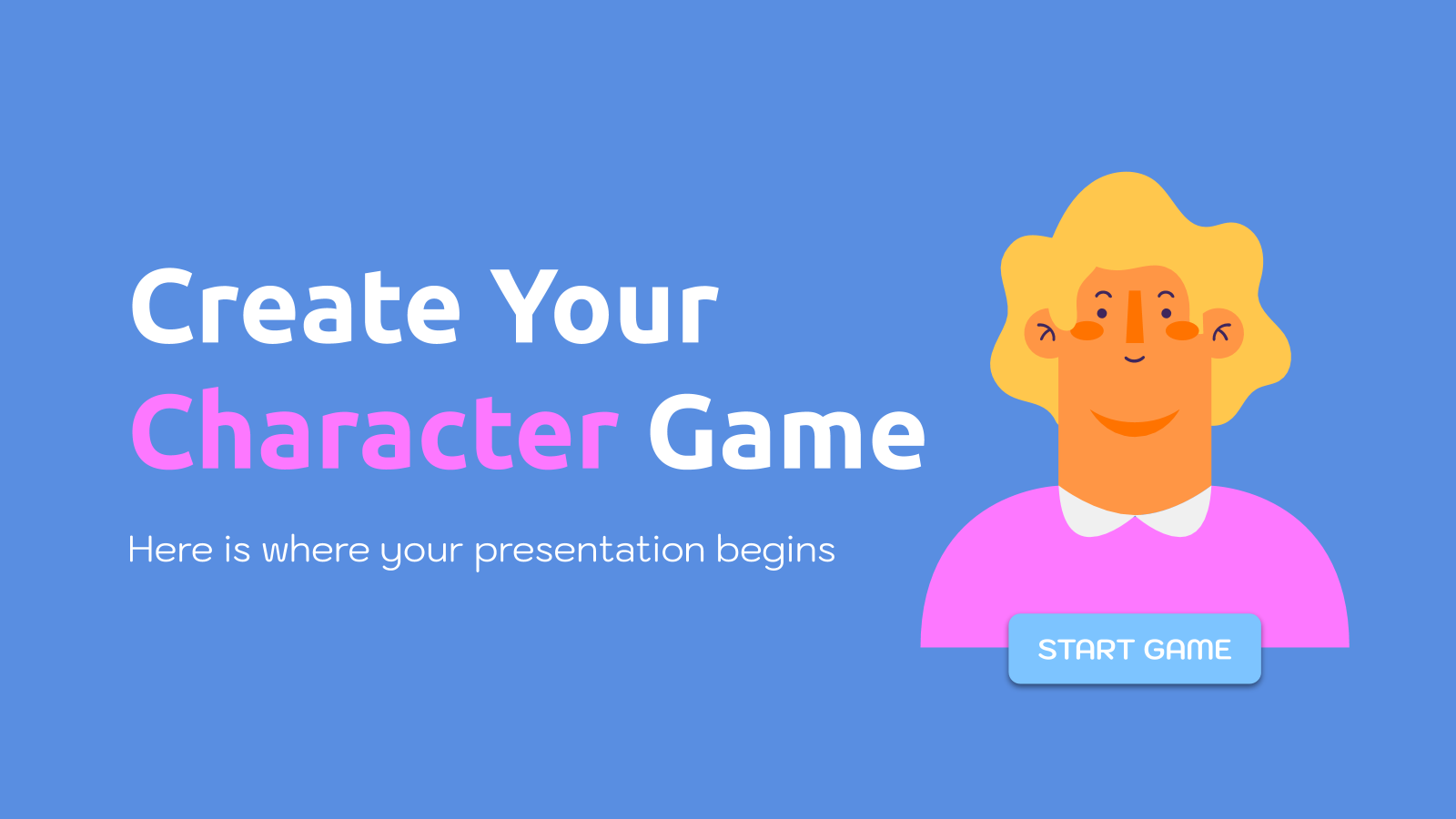 Create Your Character Game presentation template