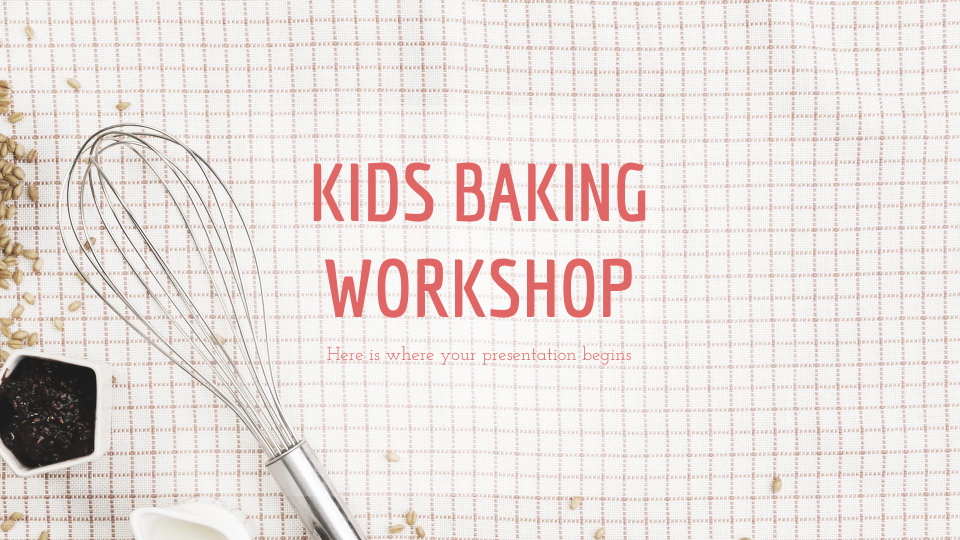 Modelo de apresentação Oficina de culinária para crianças