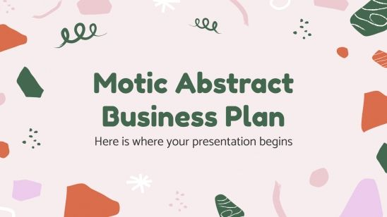 Motic Abstract Business Plan presentation template