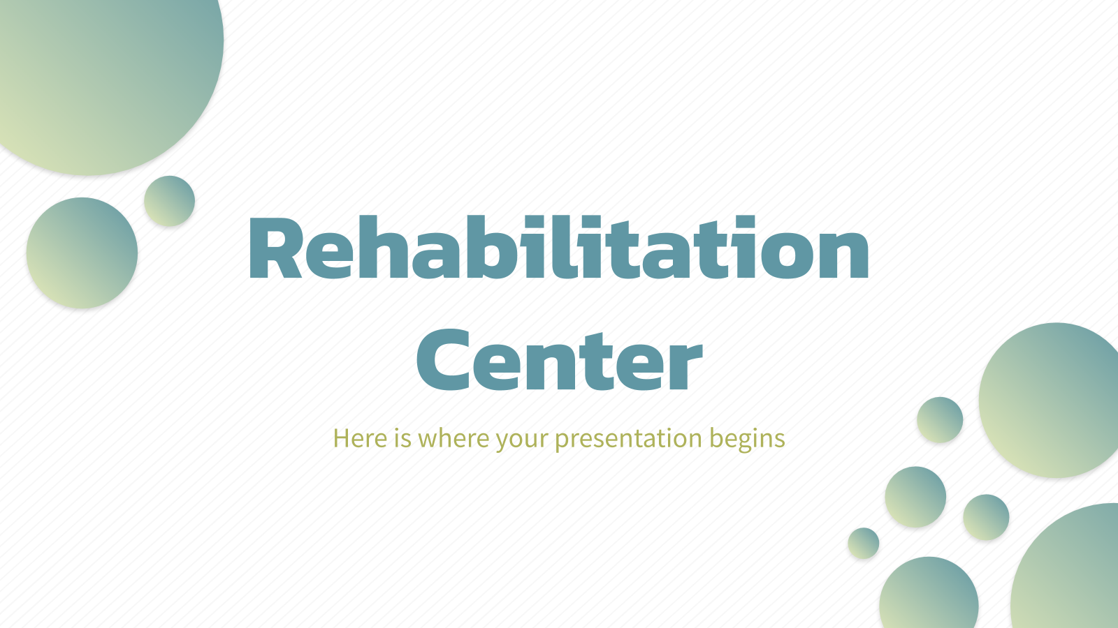 Rehabilitation Center presentation template