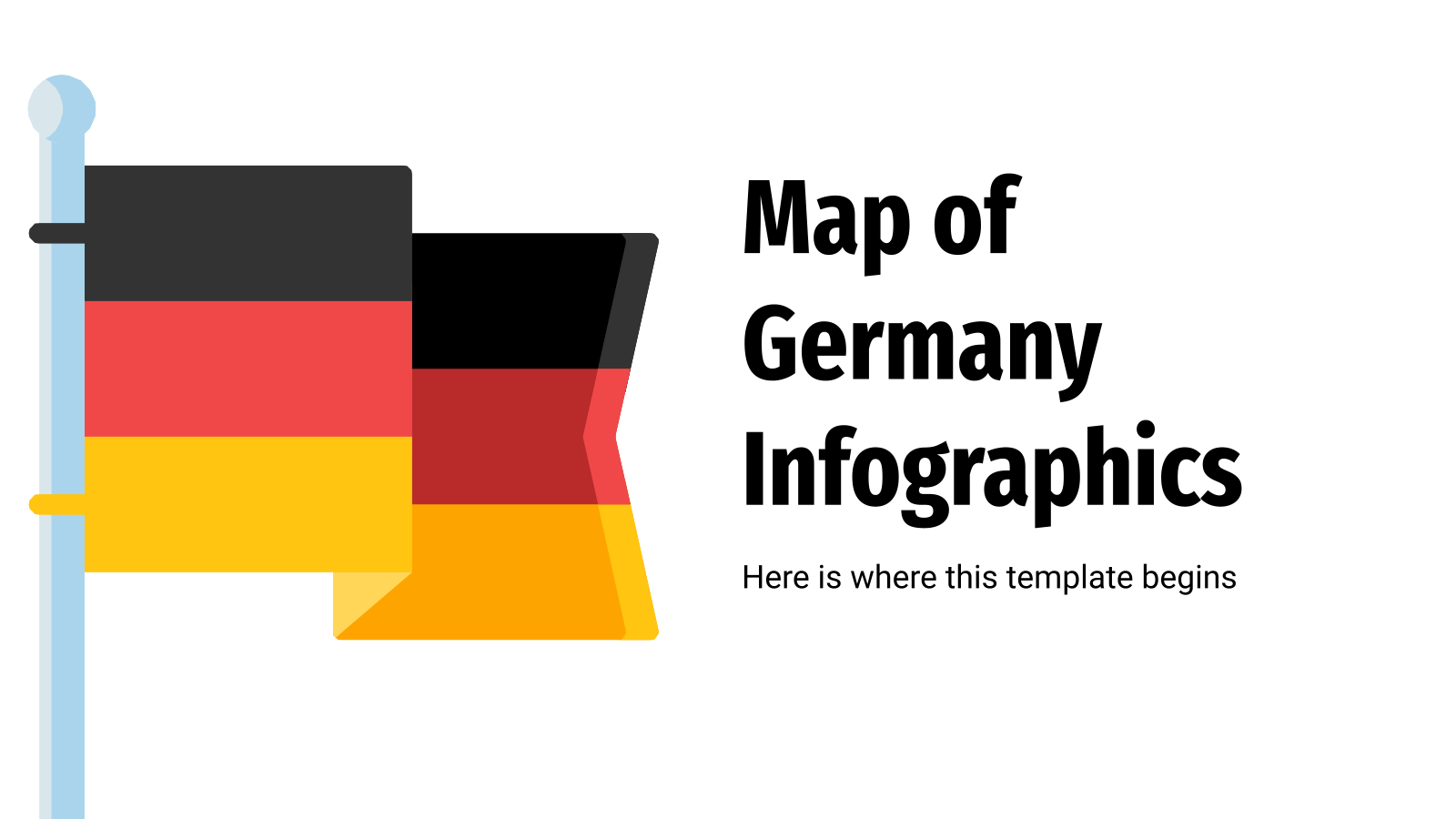 Map of Germany Infographics presentation template