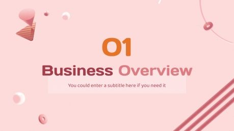 Pinky Buzzle presentation template