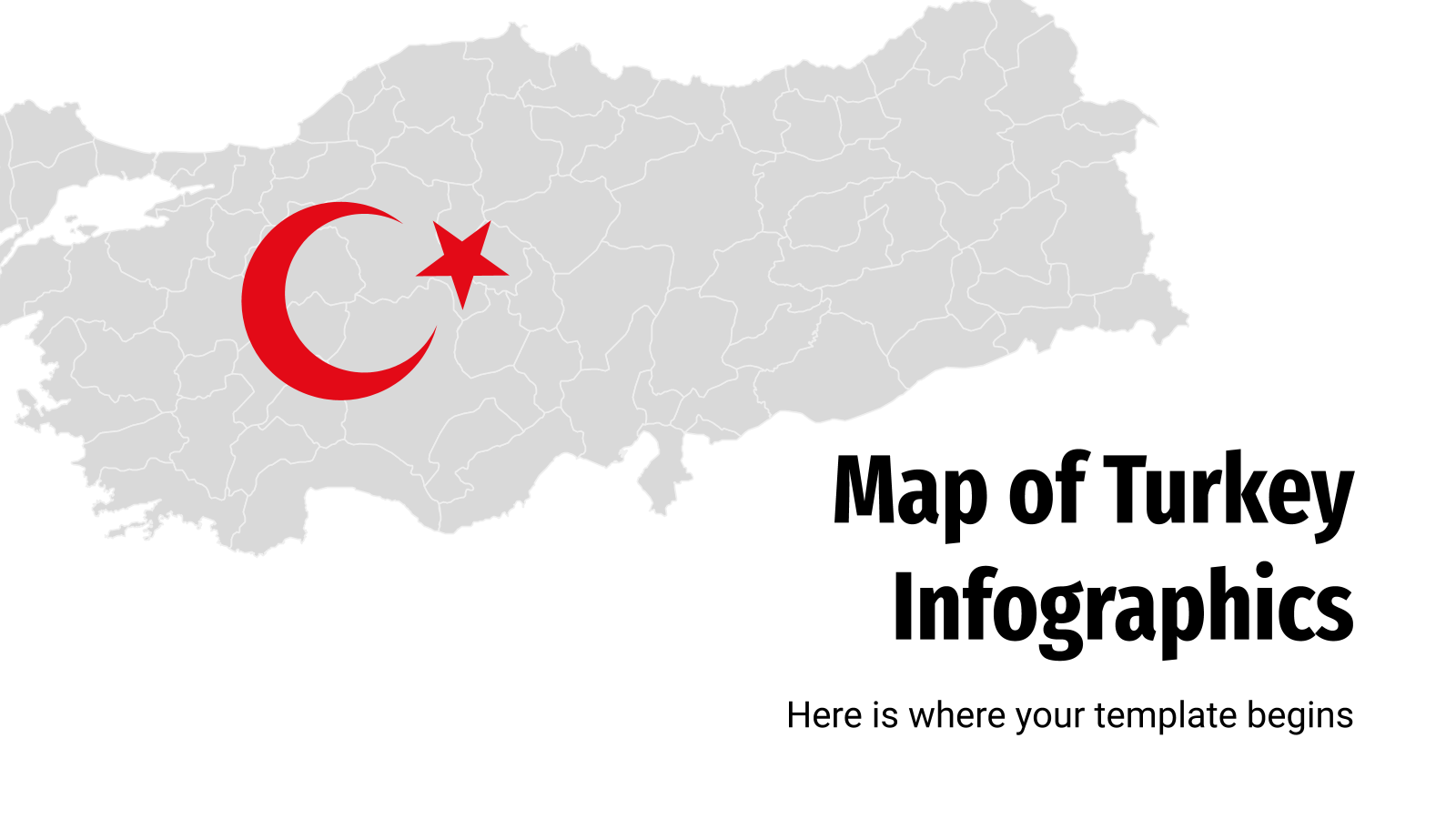 Map of Turkey Infographics presentation template