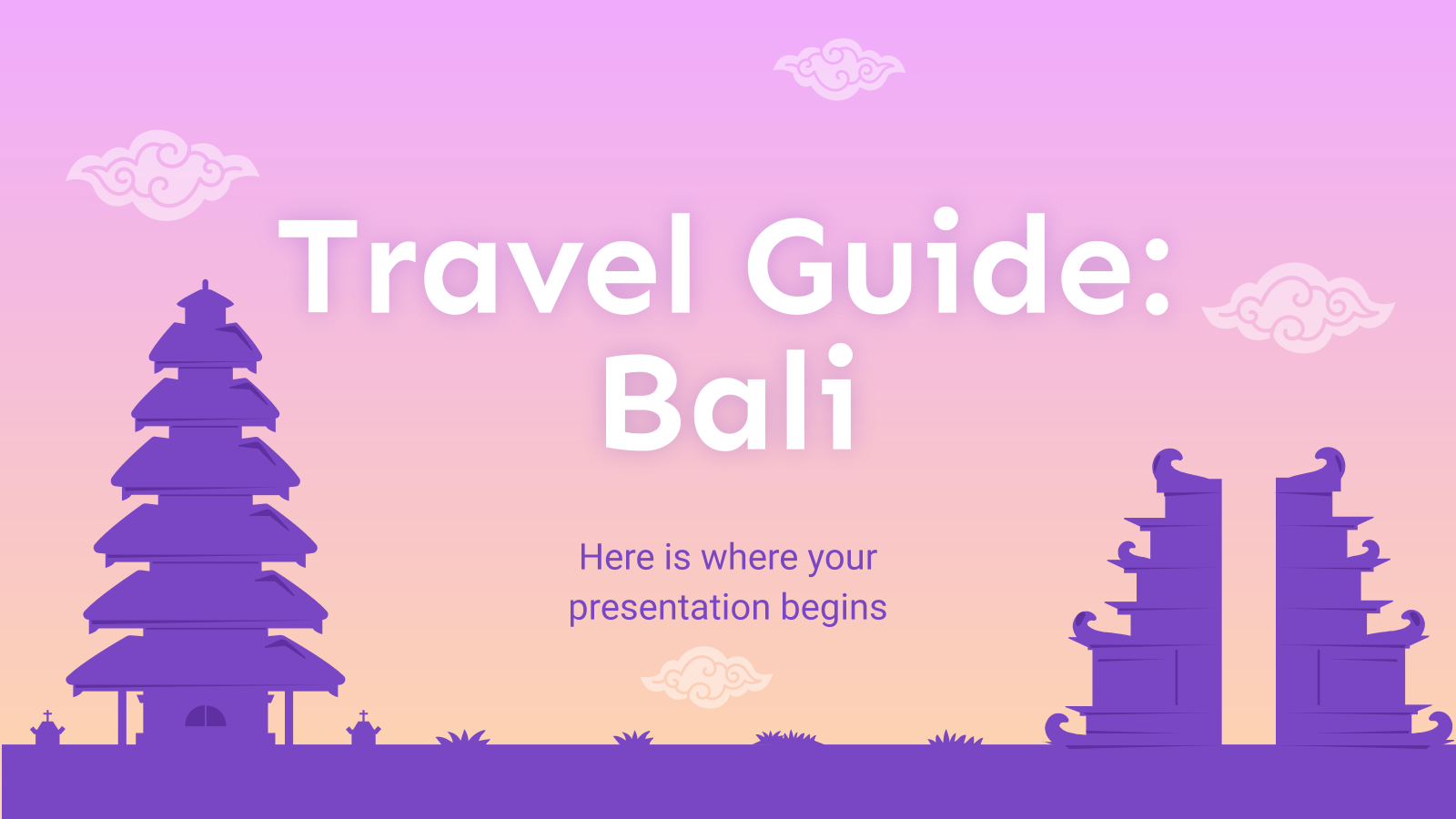 Travel Guide: Bali presentation template