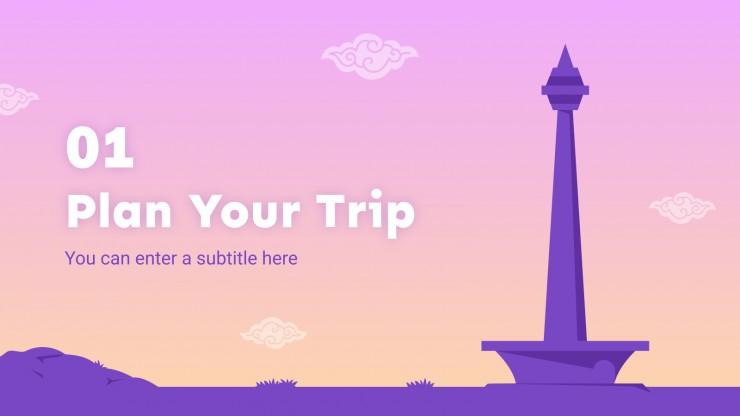 Plantilla de presentación Guía turística: Bali