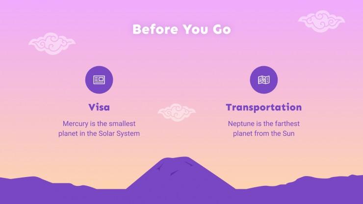 Travel Guide: Bali presentation template