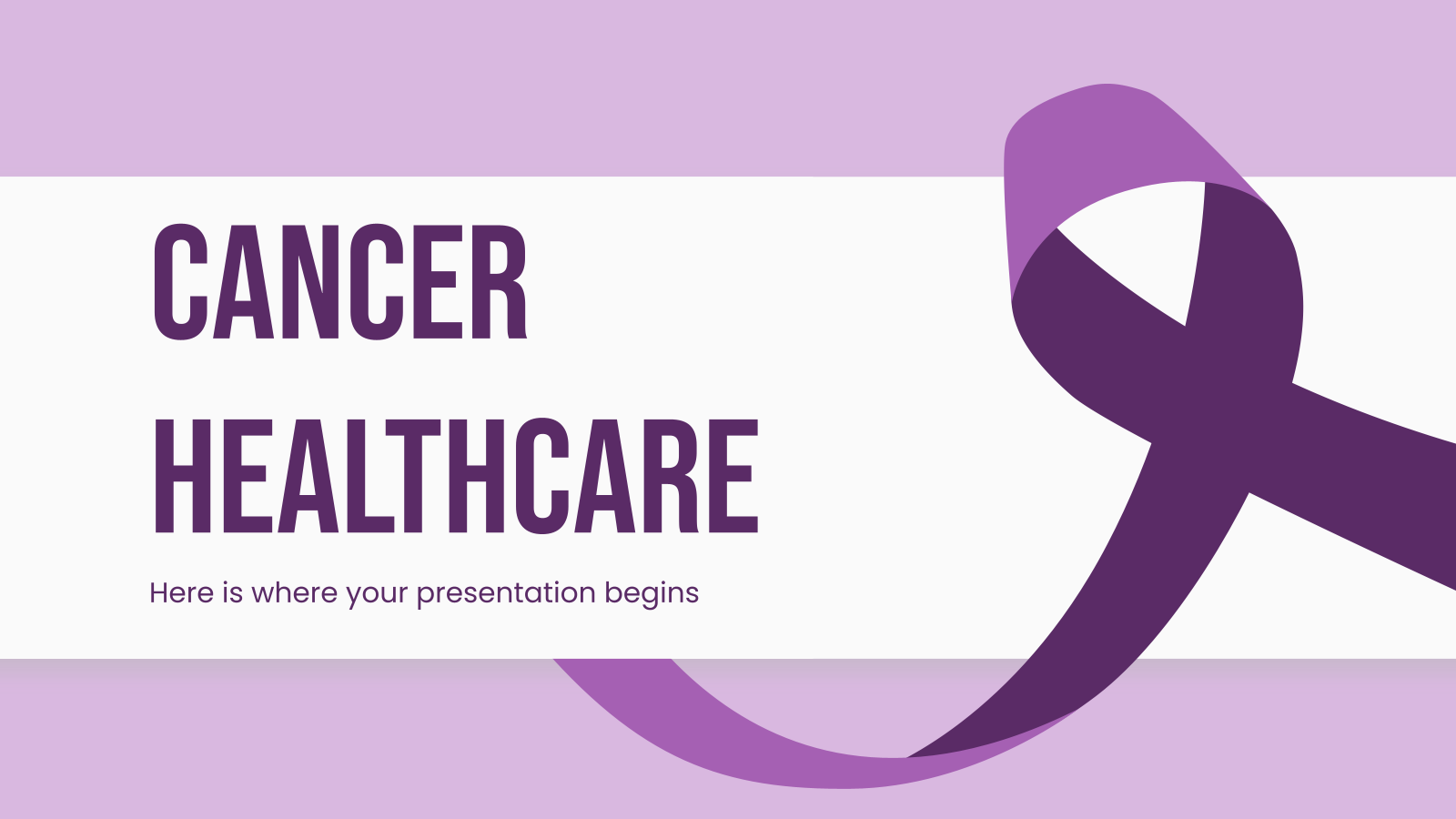 Cancer Healthcare Center presentation template