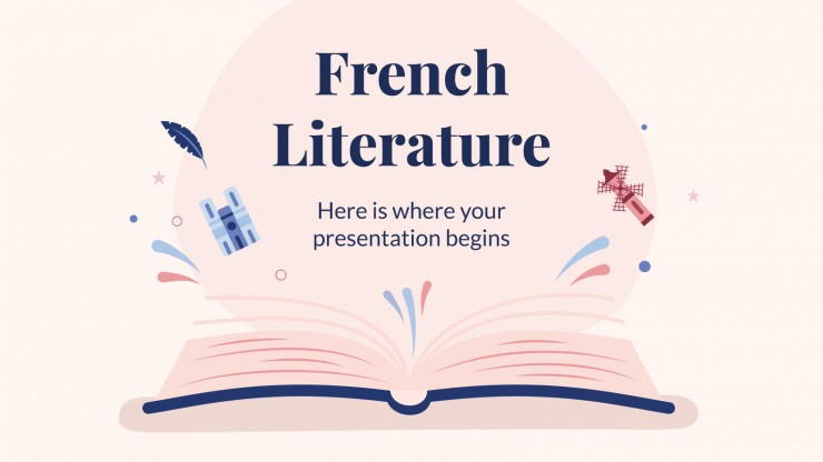 French Literature presentation template