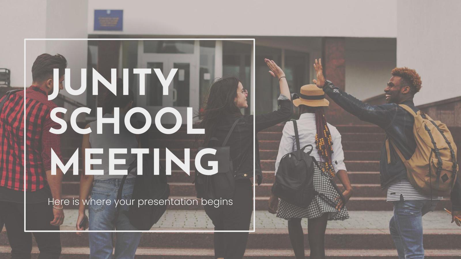 Modelo de apresentação Reunião escolar Junity