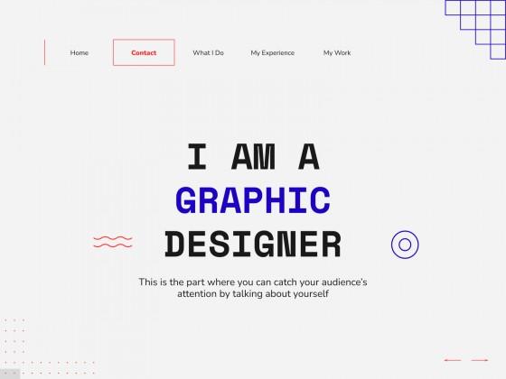 Asher Interactive Portfolio presentation template