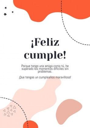 Modelo de apresentação ¡Feliz cumpleaños, amiga!
