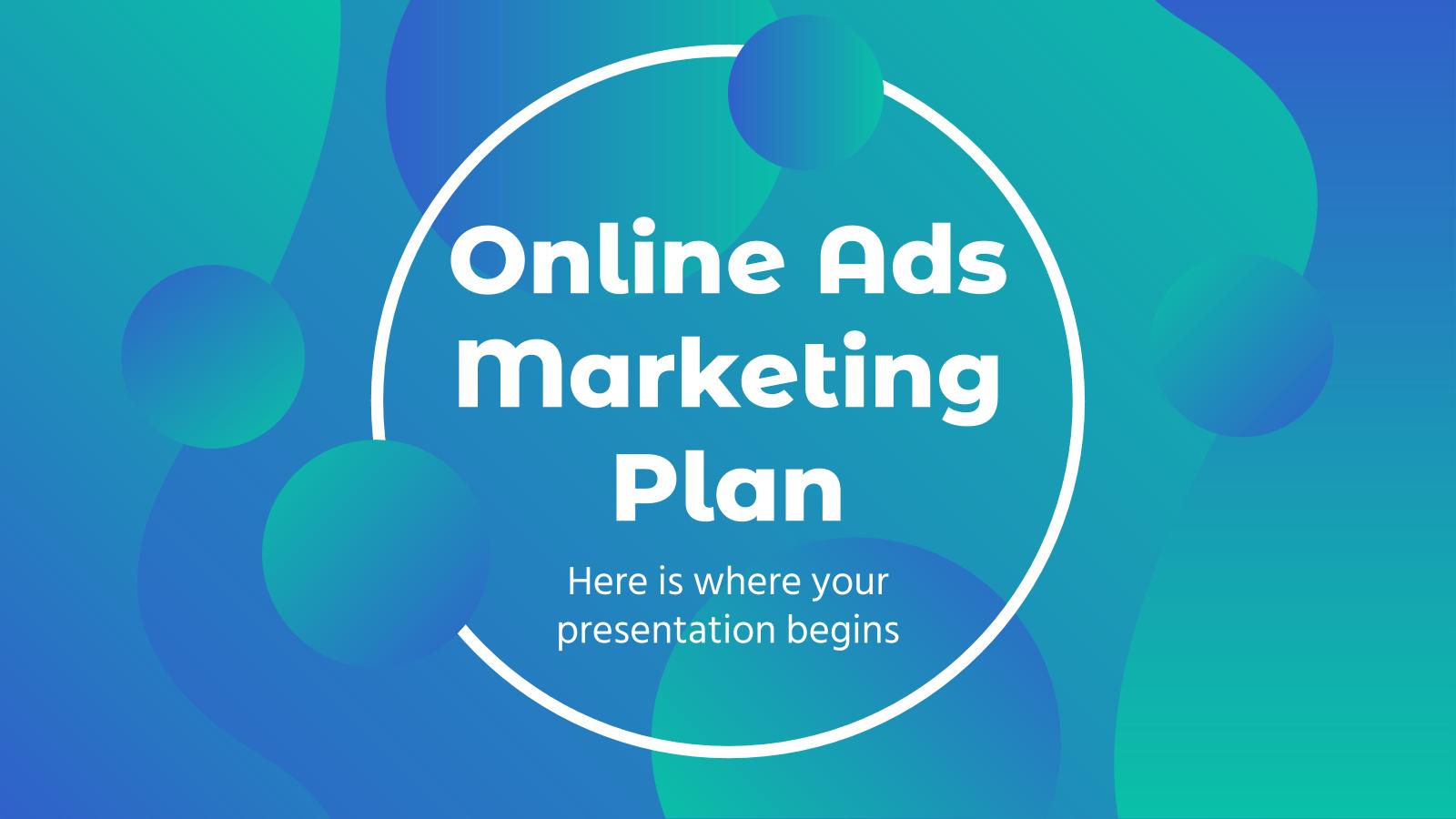 Online Ads Marketing Plan presentation template