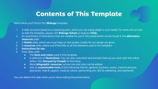 Online Ads Marketing Plan presentation template