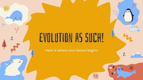 Plantilla de presentación La evolución como tal