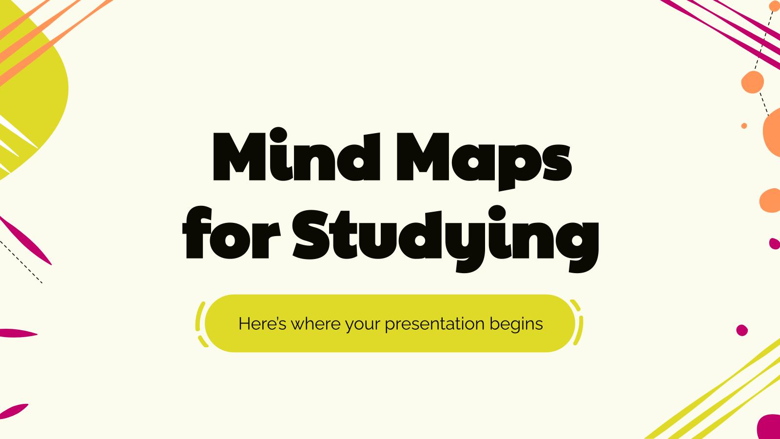 Modelo de apresentação Mapas mentais para estudar