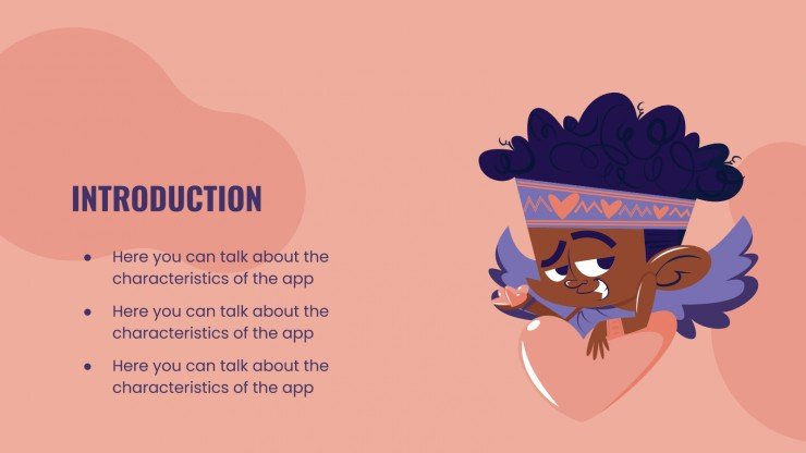 Valentine's Love & Hugs App presentation template