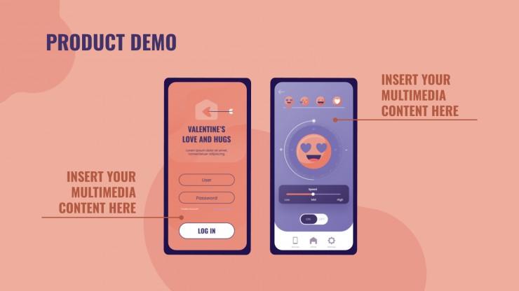 Plantilla de presentación App para San Valentín