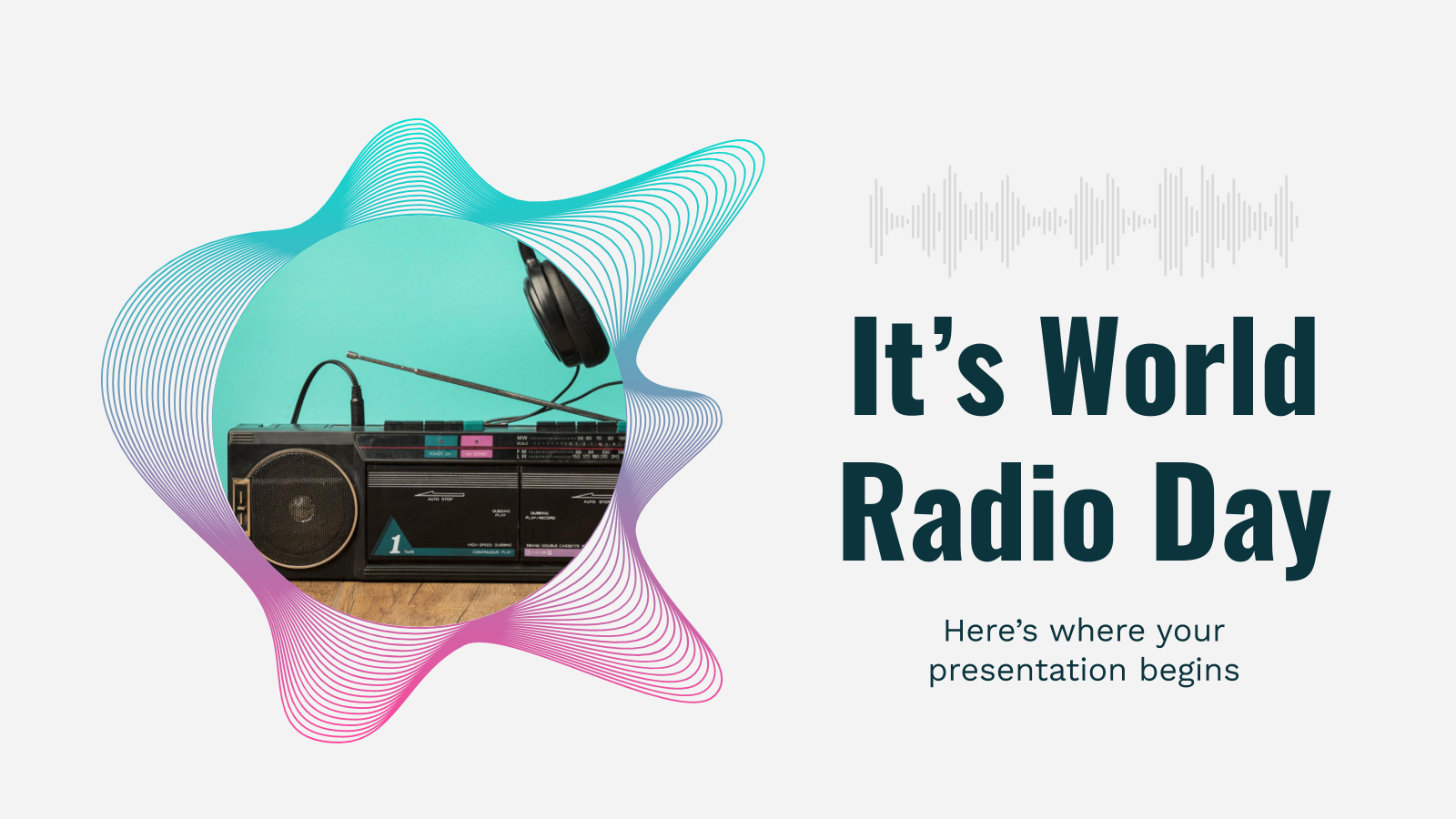 It's World Radio Day presentation template