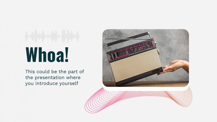 Modelo de apresentação É o Dia Internacional do Rádio