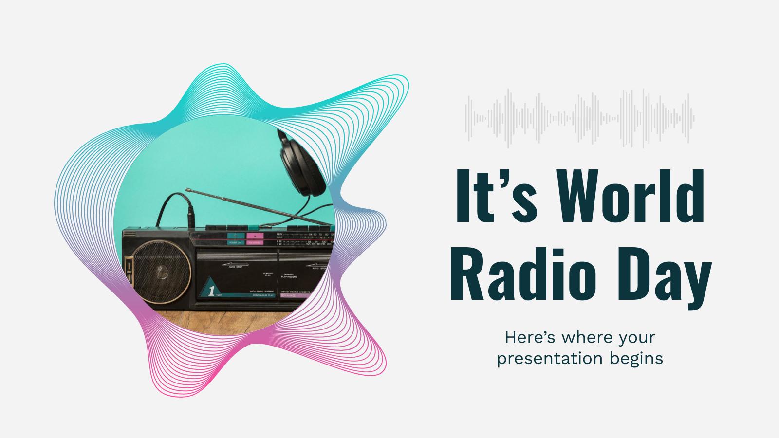 Plantilla de presentación El Día Mundial de la Radio