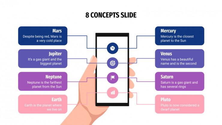 8 Concepts Infographics presentation template