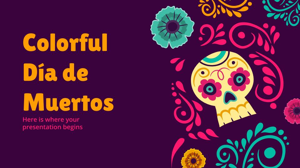 Día de Muertos Colorido : Modèles de présentation