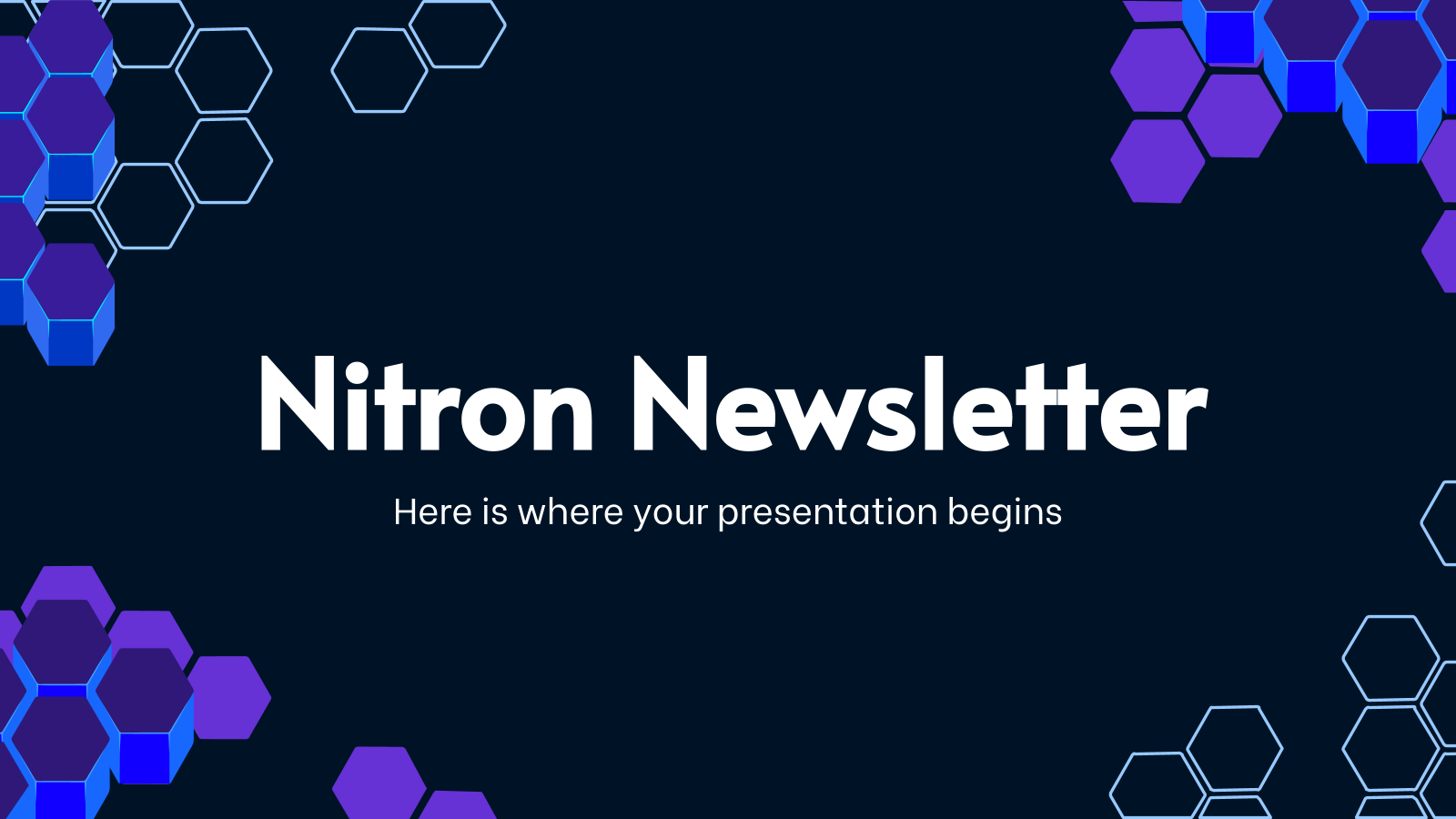 Nitron Newsletter presentation template