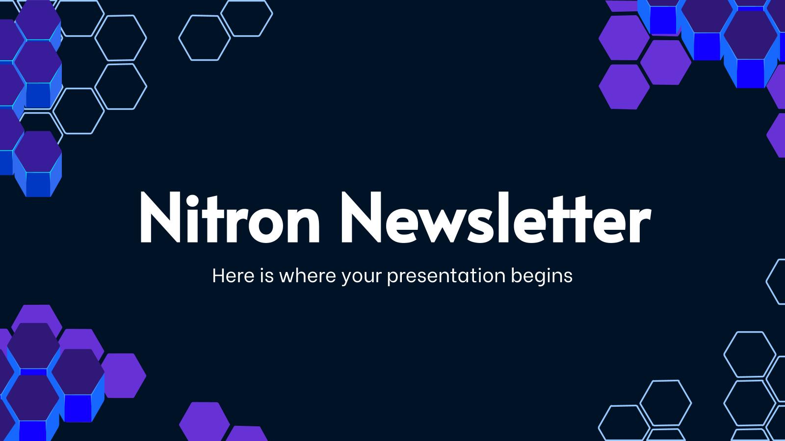 Modelo de apresentação Newsletter Nitron