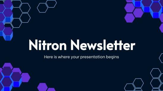Plantilla de presentación Newsletter Nitron
