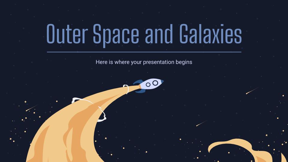 Modelo de apresentação Galáxias e espaço sideral