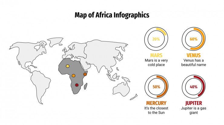 Map of Africa Infographics presentation template