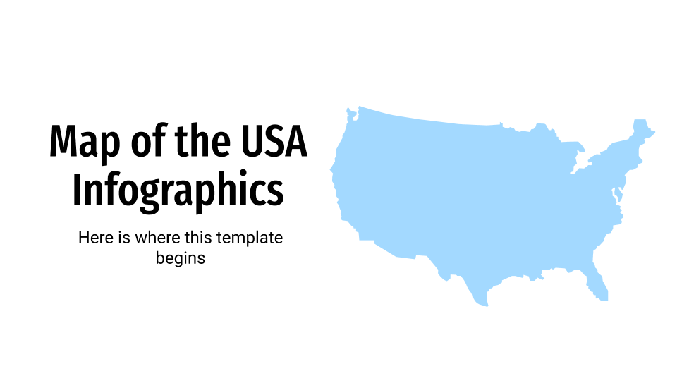 Map of the USA Infographics presentation template