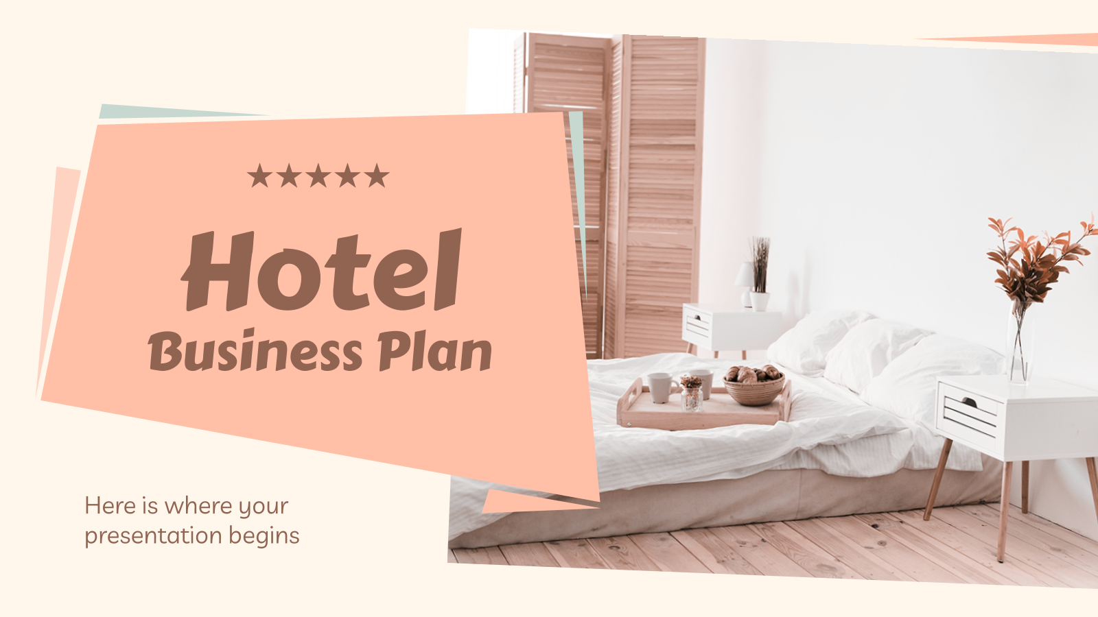 Plantilla de presentación Plan de negocios para hoteles