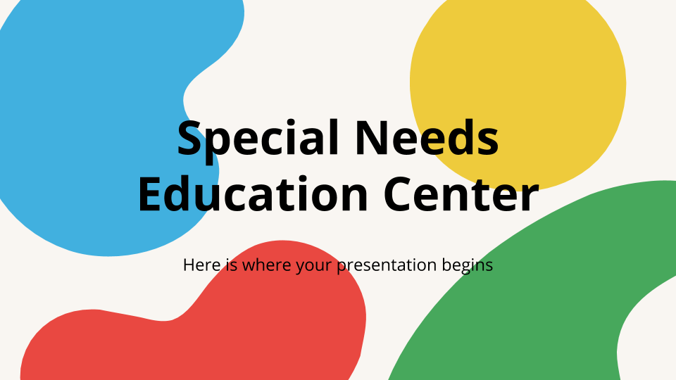 Special Needs Education Center presentation template