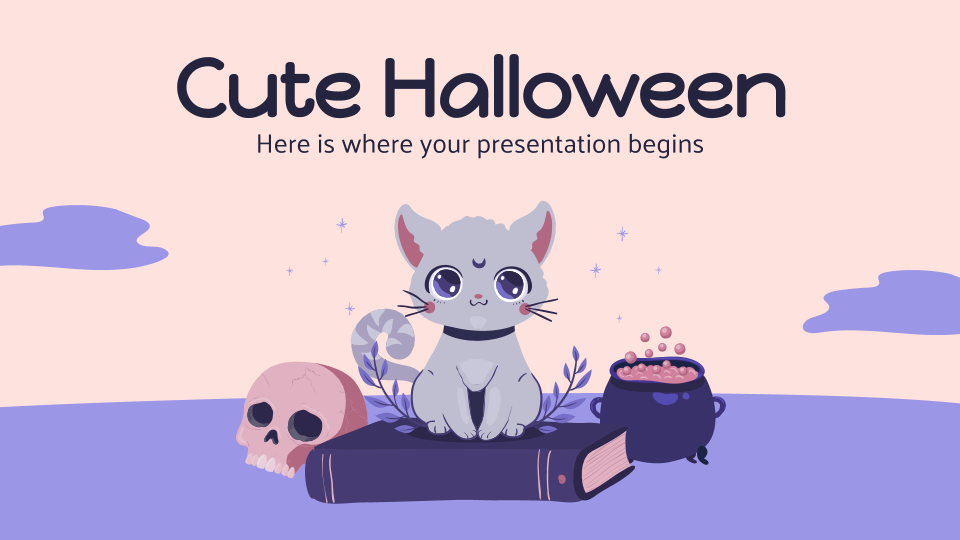 Cute Halloween presentation template