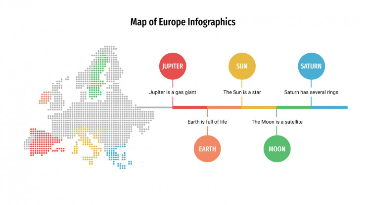 Map of Europe Infographics presentation template