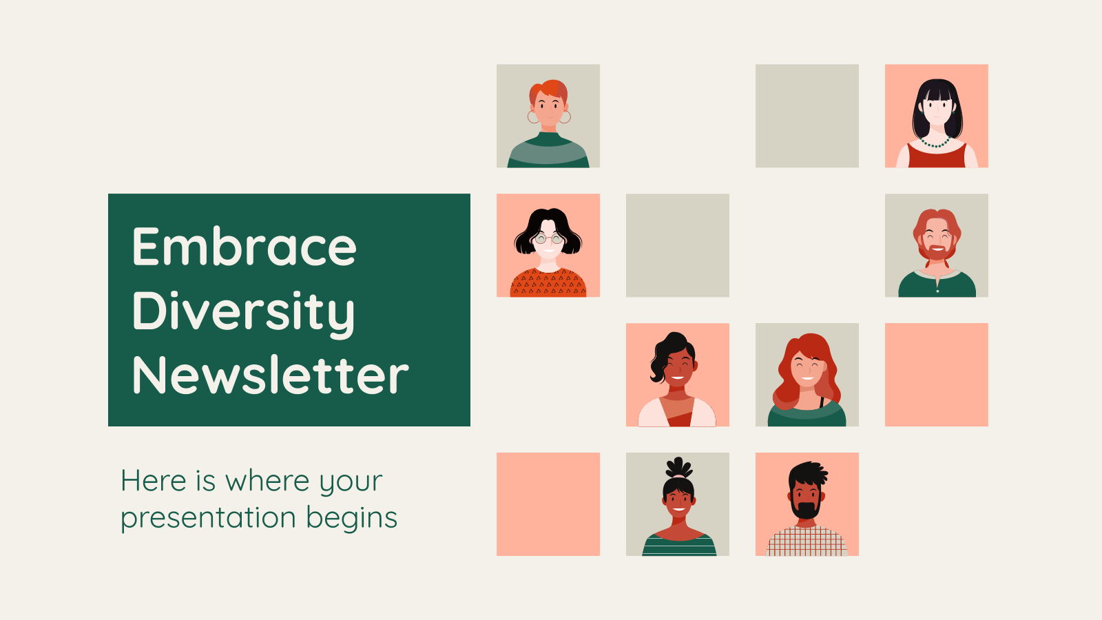 Embrace Diversity Newsletter presentation template