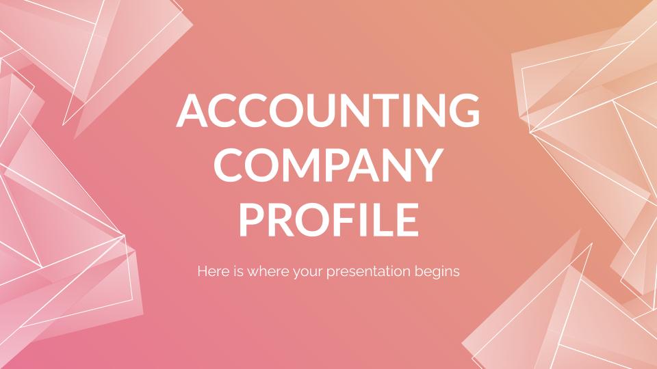 Profil d'entreprise