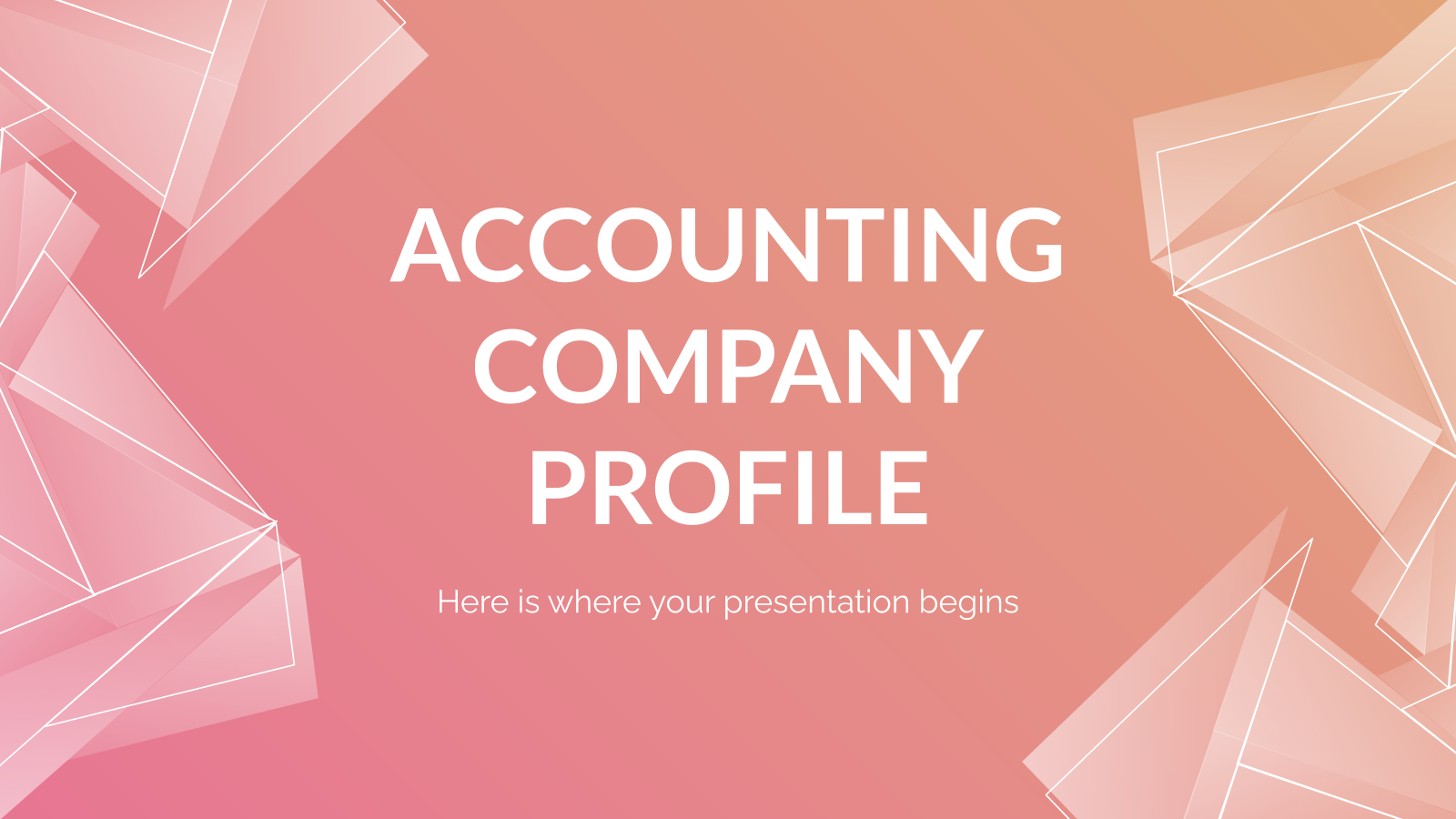 Accounting Company Profile presentation template