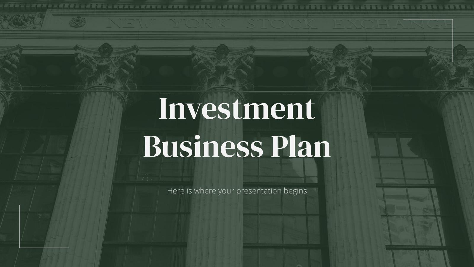 Modelo de apresentação Plano de negócios de investimento