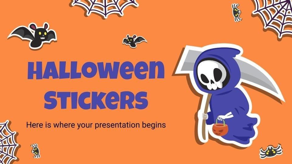 Autocollants d'Halloween : Modèles de présentation