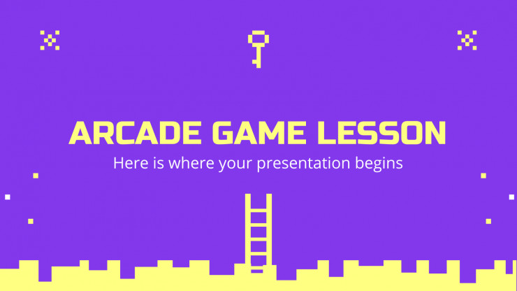 Arcade Game Lesson presentation template