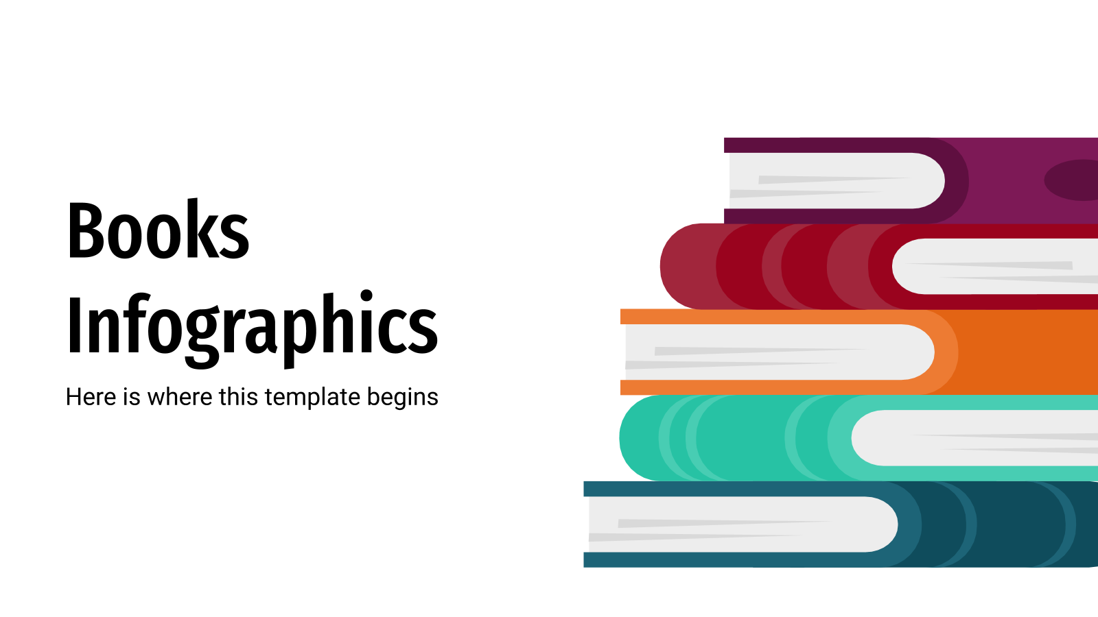 Books Infographics presentation template