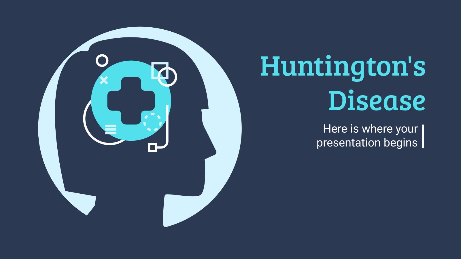 La maladie de Huntington : Modèles de présentation