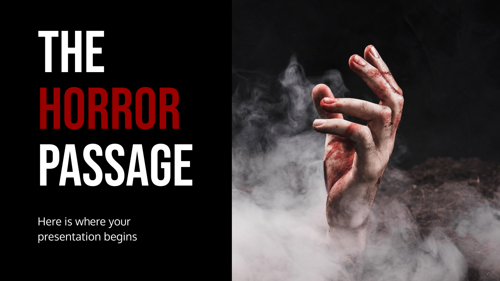 The Horror Passage presentation template