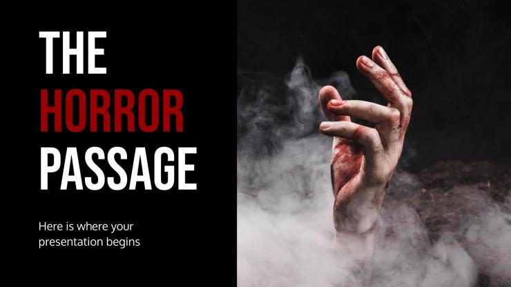 The Horror Passage presentation template