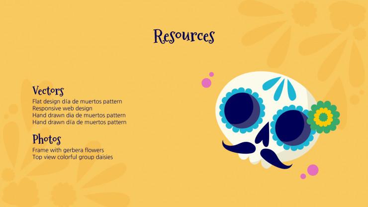 Modelo de apresentação Estampa do Día de Muertos